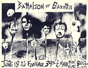 Battalion of Saints: Live At The Foolkiller in KC, MO 06-18-85
