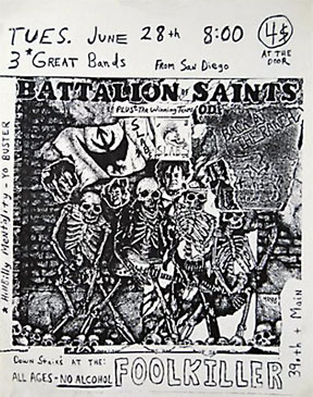 Battalion of Saints: Live At The Foolkiller in KC, MO 06-18-85 (note wrong date)