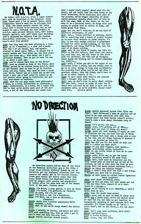 N.O.T.A. and No Direction interviews from Blatch #7, 1983